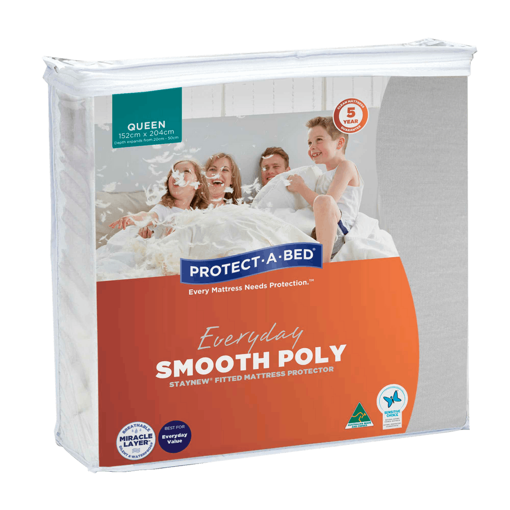 Protect-a-Bed Smooth Poly Staynew® Mattress Protector