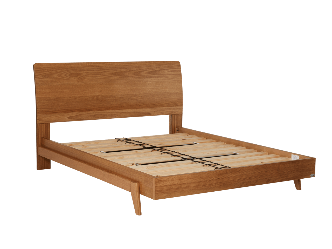 Dane Bed Frame with Timber Headboard & Base – Snooze