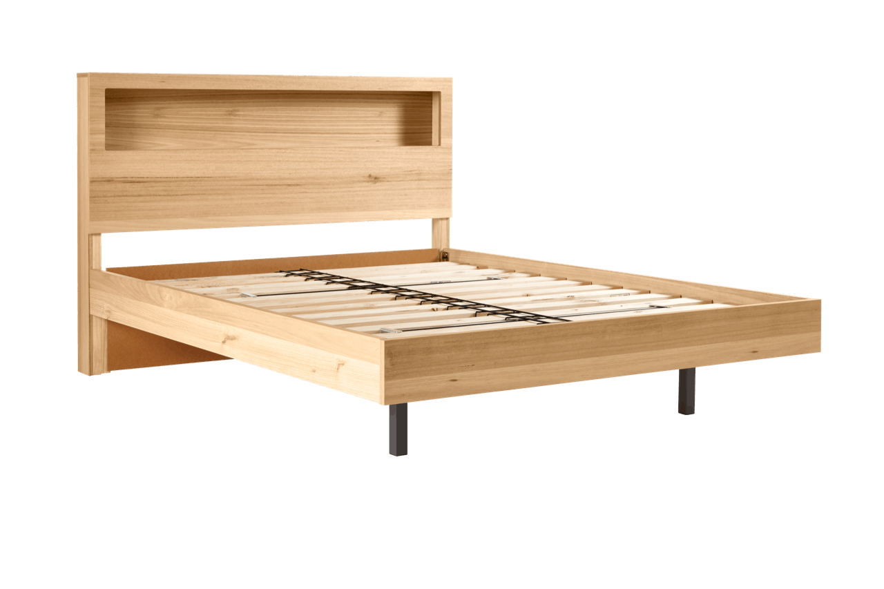 My Design Bed Frame (featured headboard & floating base) – Snooze