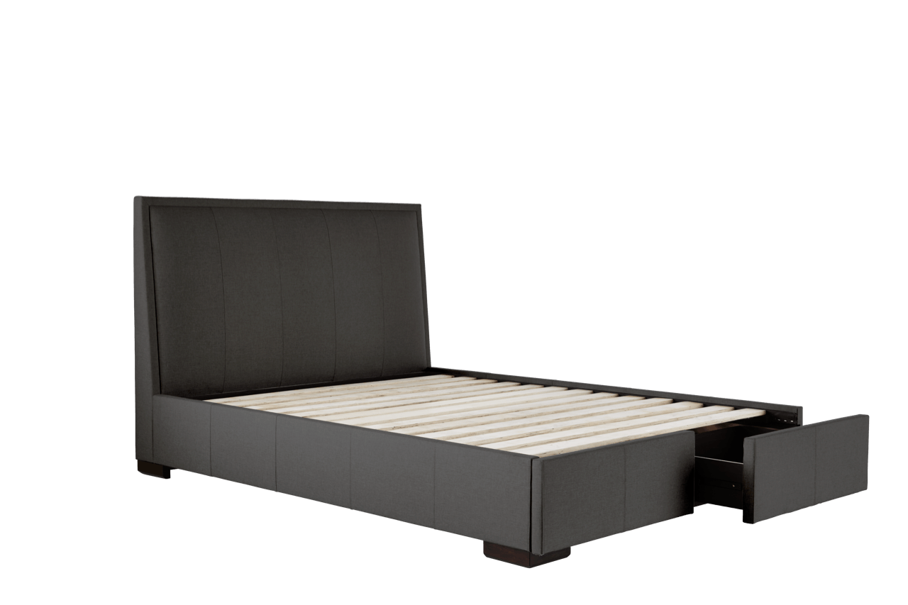 Kenton Bed Frame (Framed Headboard and Storage Base) – Snooze