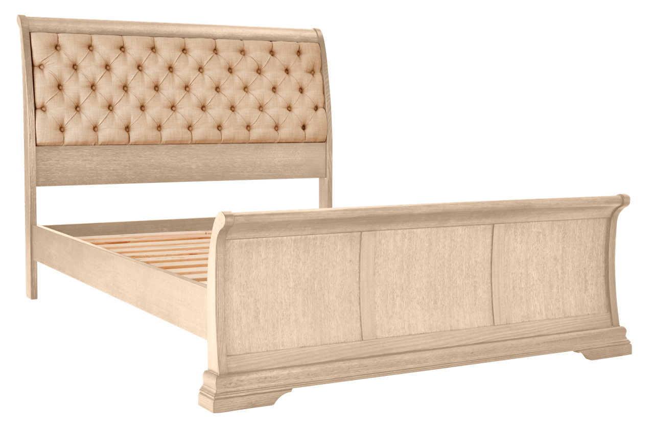 Juliet Bed Frame with Upholstered Headboard – Snooze